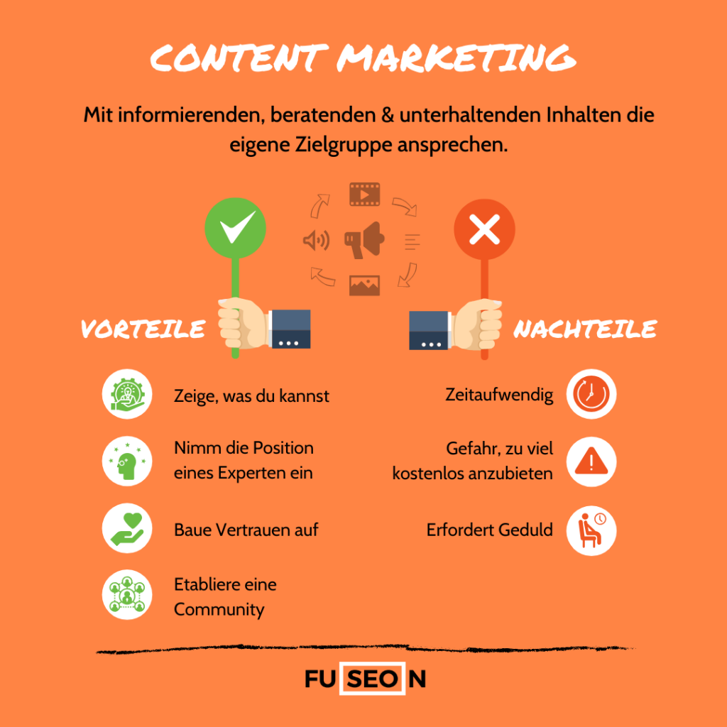 Pro und Contra Content Marketing